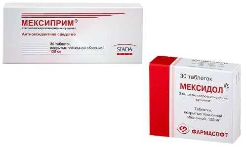 Мексидол и Мексиприм применяются врачами для устранения расстройств в работе нервной системы