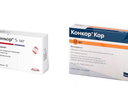 Отличие препаратов Конкор и Конкор Кор