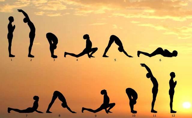 Йога при гипотиреозе: Сурья намаскар - Приветствие солнцу