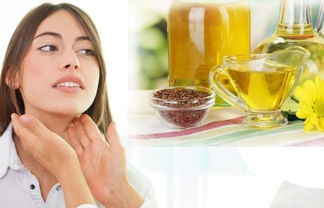 Лечение льняным маслом щитовидной железы
