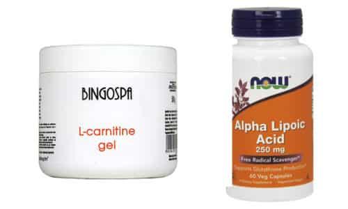Л-карнитин и липоевая кислота улучшают обмен веществ, ускоряют процесс жиросжигания, благотворно влияют на работу организма