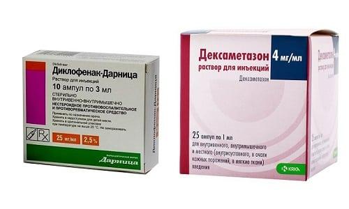Дексаметазон и Диклофенак - лекарственные препараты, предназначенные для устранения воспалительного процесса и снятия отечности