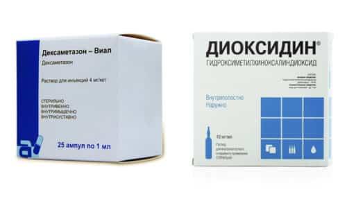 Диоксидин и Дексаметазон применяют в отоларингологии для лечения воспалительных заболеваний уха и носа