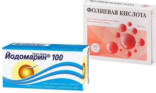 Совместное назначение Фолиевой кислоты и Йодомарина беременным женщинам связано с недостатком йода и витамина B9 в их организме