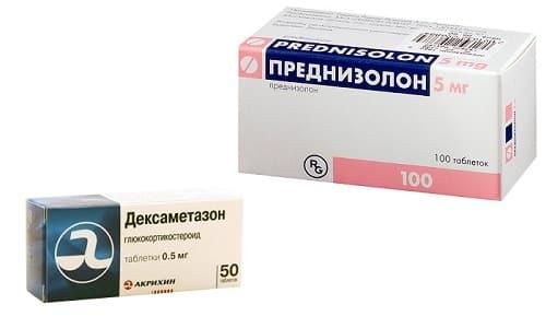 Мощные препараты синтетического происхождения - Дексаметазон и Преднизолон