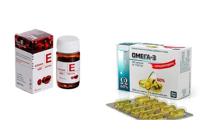 Омега 3 и Витамин Е