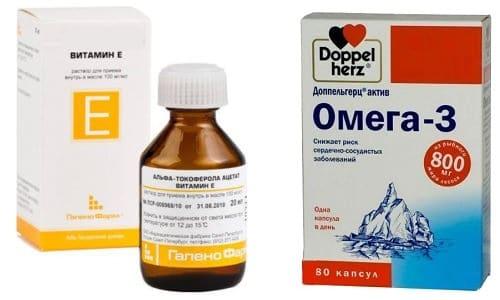 Омега-3 и витамин Е используются для ускорения регенерации тканей, укрепления иммунной системы, лечения инфекционных заболеваний
