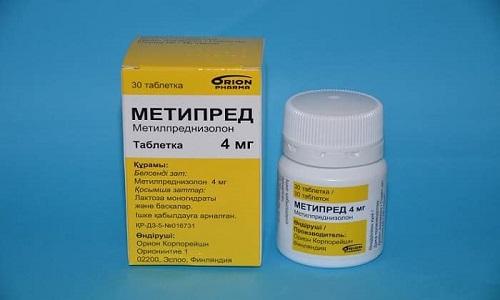 Метипред не задерживает в организме натрий, поэтому его считают лучшим препаратом