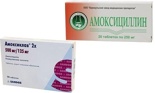 Антибактериальные средства Амоксициллин и Амоксиклав часто назначаются при одинаковых заболеваниях, т. к. относятся к препаратам пенициллинового ряда