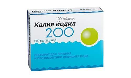 Калия йодида 200 используют при лечении зоба и других йоддефицитных заболеваний